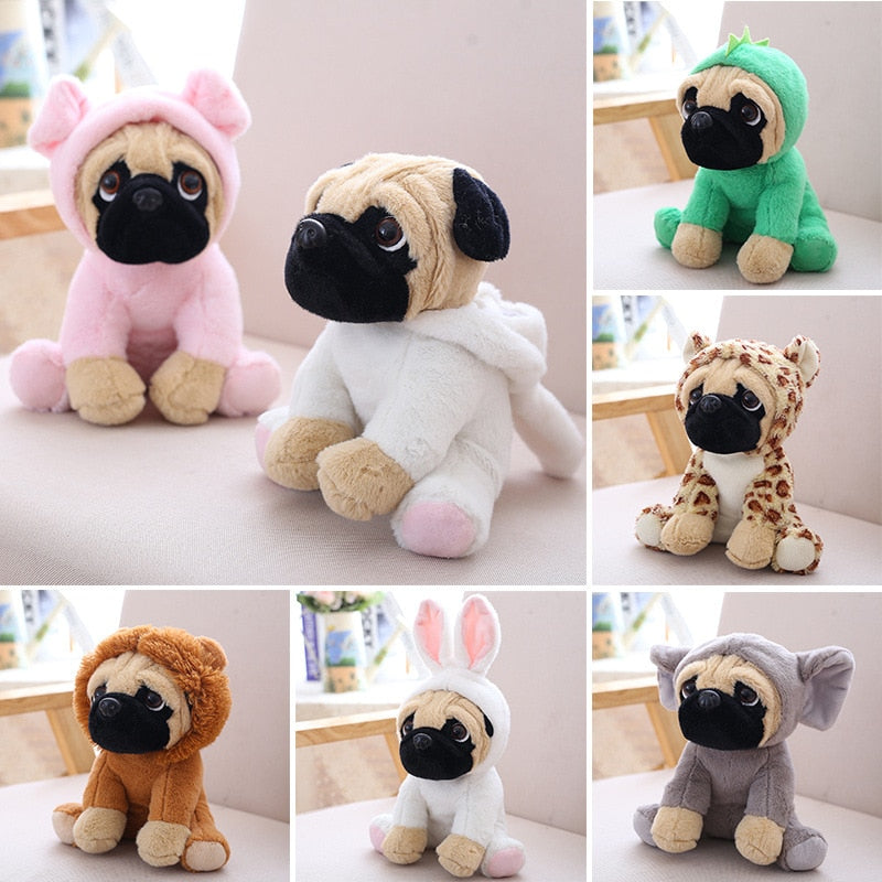 Puppy Dog Plush Pug Simulation Dress up Interactive Toy