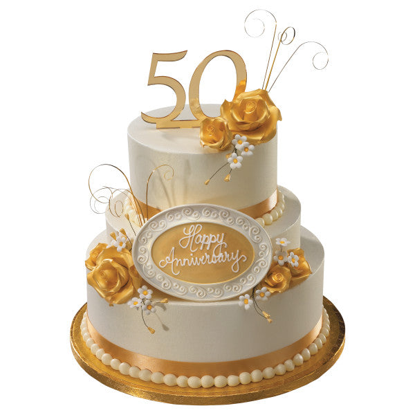 50th Anniversary Wedding Cake Topper Decoration Ornament