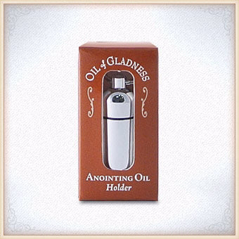 Anointing Oil-Keyring Holder-Silvertone-Boxed