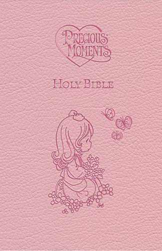 ICB Precious Moments Holy Bible-Pink LeatherSoft