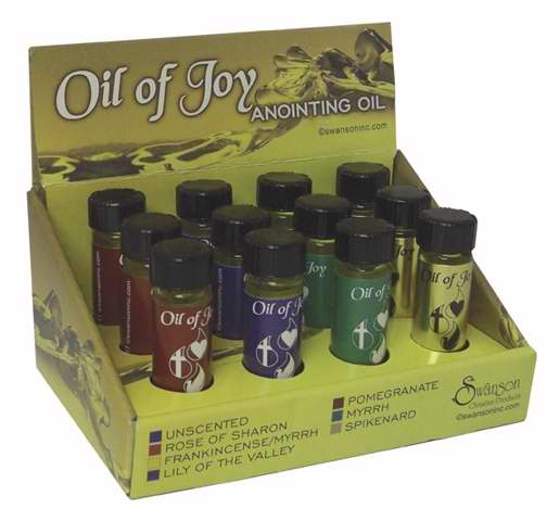 Anointing Oil-Assorted Best Seller Display-1-4 Oz (Pack of 12)