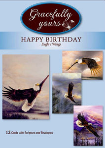 Card-Boxed-Birthday-Eagles Wings #024 (Box Of 12)