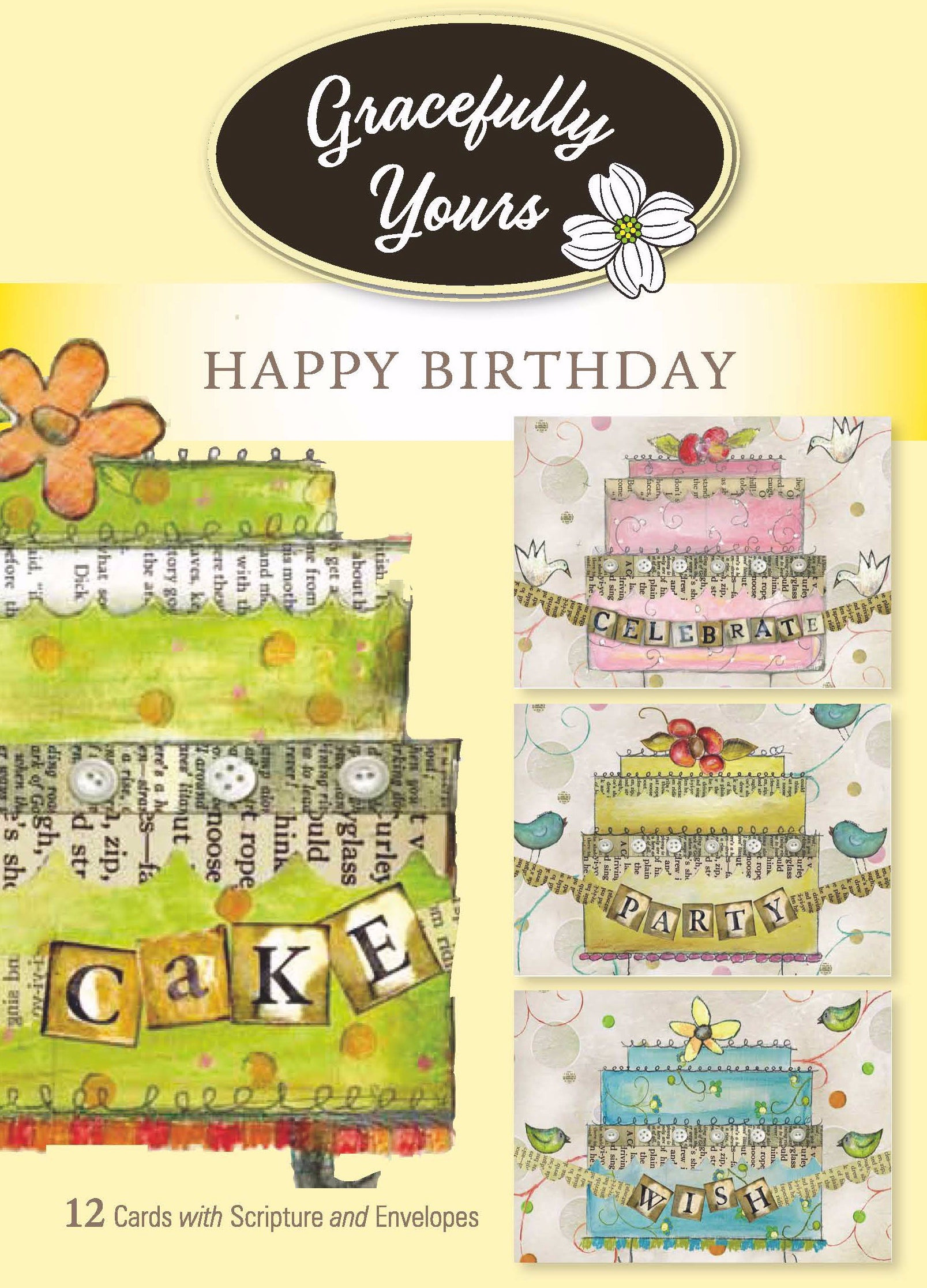 Card-Boxed-Birthday-Sweet Life (Lisa Kaus) #64 (Box Of 12)