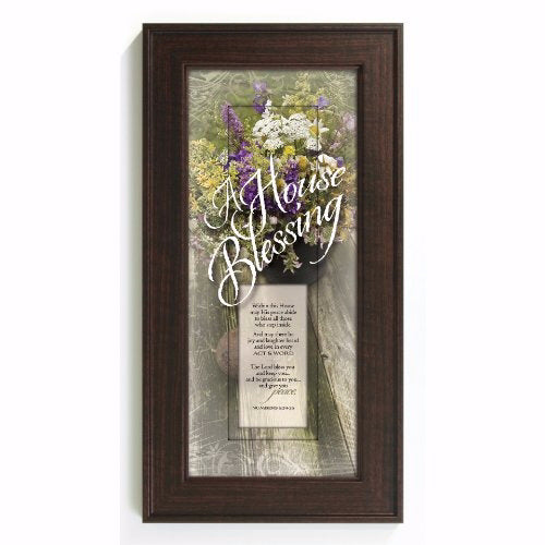 "Framed Art-Words of Grace-A House Blessing (8"" x 16"")"