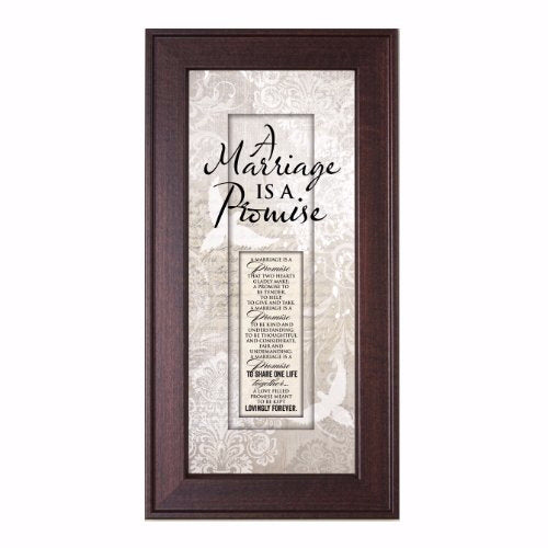 Framed Art-Words Of Grace-Marriage Is A Promise
