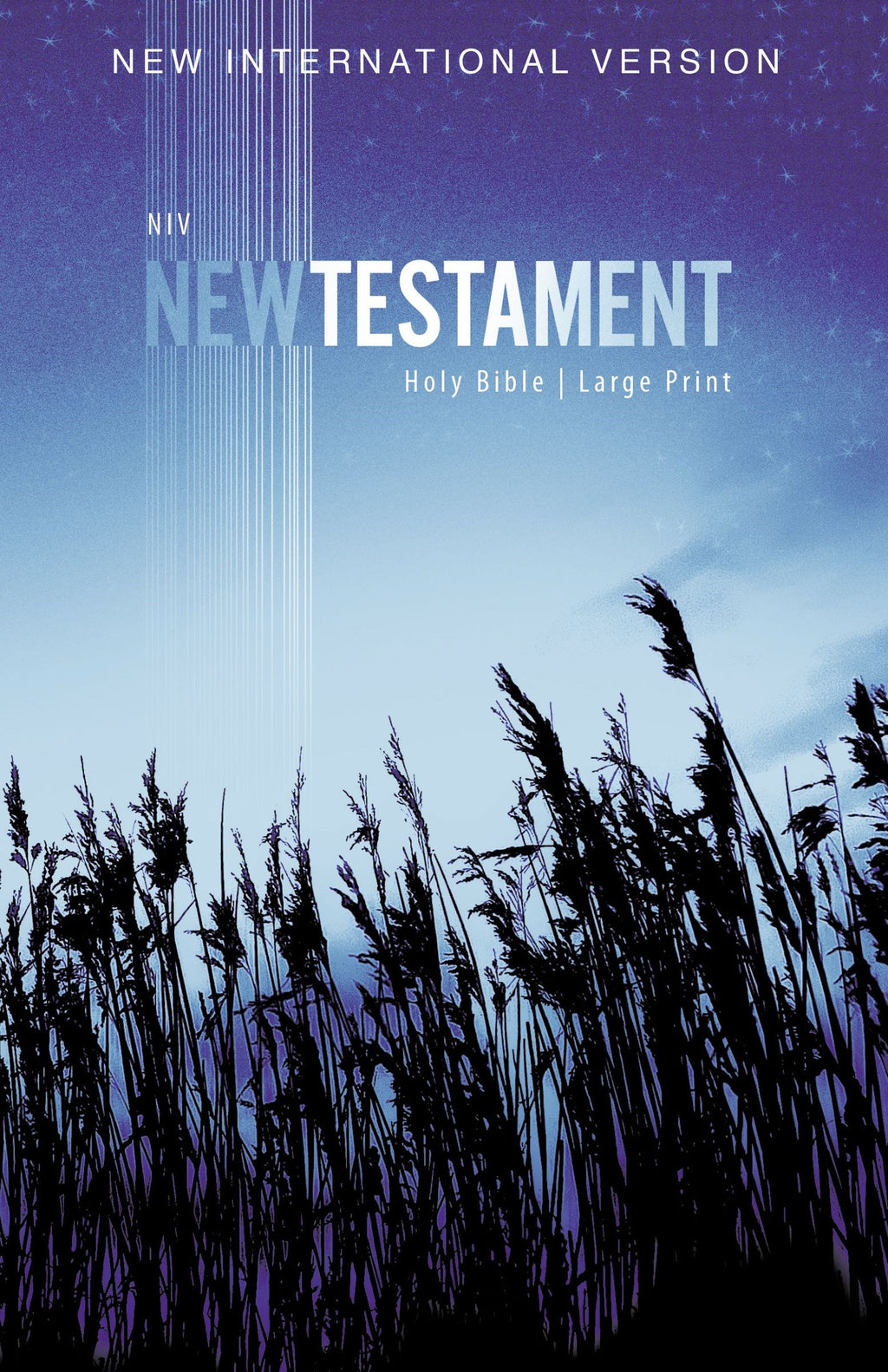 NIV Outreach New Testament-Large Print-Blue Wheat Softcover