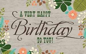 Postcard-Very Happy Birthday To You!-Flowers (Pack Of 25)