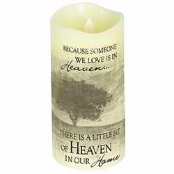 "Candle-Flameless-Premier Flicker-Heaven w-Timer-Vanilla (6"" x 3"")"