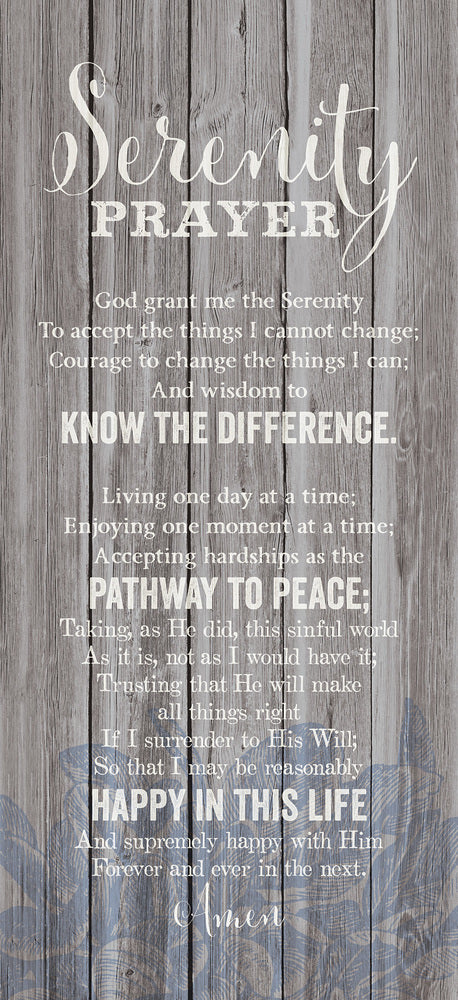 "Wall Plaque-New Horizons-Serenity Prayer (5.5"" x 12"")"