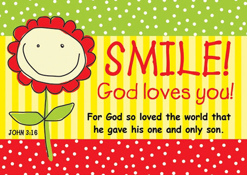 Postcard-Smile! God Loves You! (6 x 4.25) (Pack Of 6)
