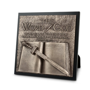 Plaque-Moments Of Faith: Word Of God Sculpture (#11701)