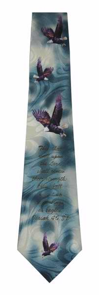 Tie-Mount Up With Wings-Polyester-Turquoise