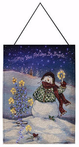 "Bannerette-Flake Snowman-May Your Holidays Be Bright (Lighted) (13"" x 18"")"
