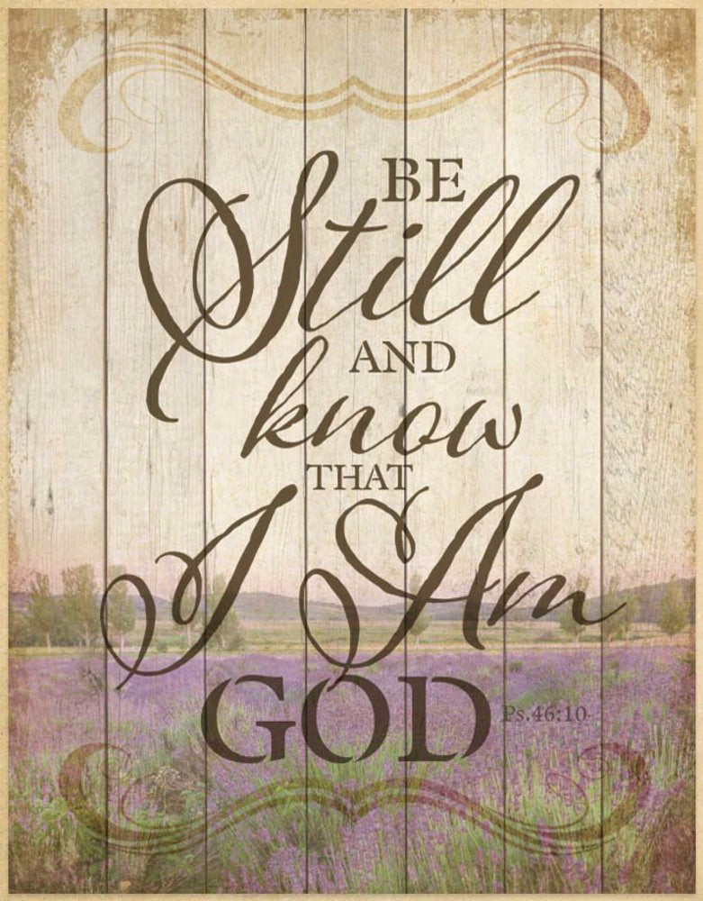 "Wall Plaque-Timberland Art-Be Still And Know... (11.75"" x 15"")"
