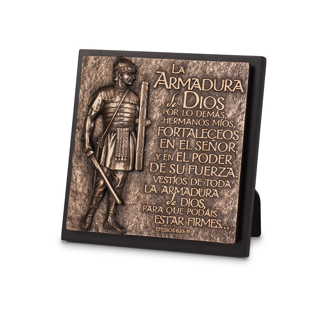 Span-Sculpture Plaque-Moments Of Faith: Armor Of God (#17972)
