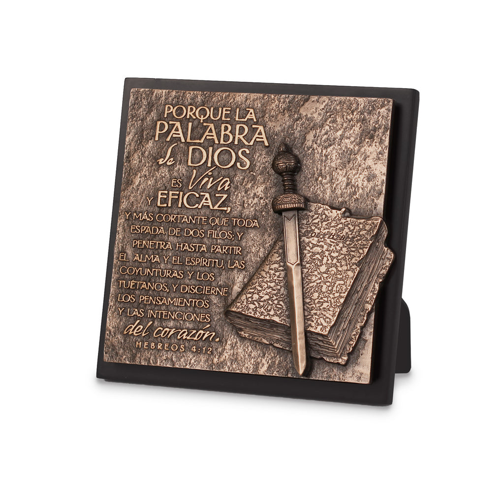 Span-Sculpture Plaque-Moments Of Faith: Word Of God (#17973)