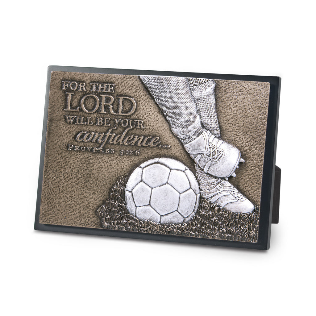 Plaque-Moments Of Faith: Soccer-Small (#20762)