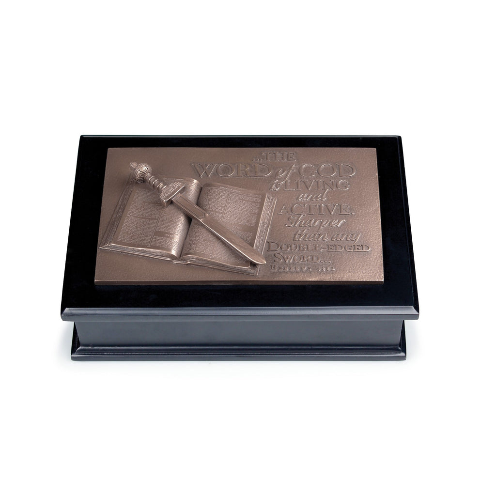 Sculpture-Moments Of Faith: Word Of God Box (#23002)