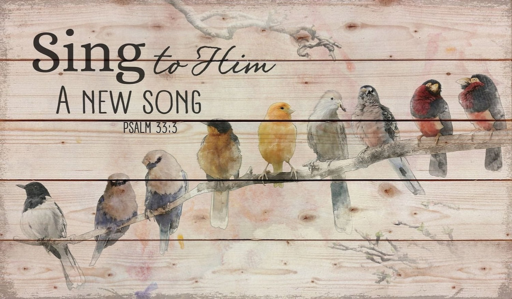 Rustic Amish Pallet-Sing To Him (24 x 14)
