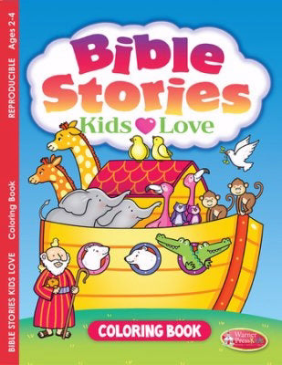 Bible Stories Kids Love Coloring Book (Ages 2-4)
