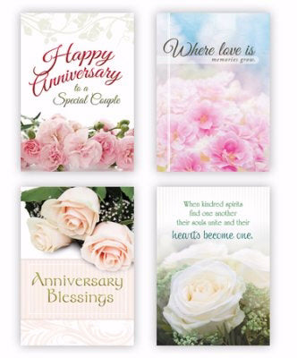 Card-Boxed-Anniversary Blessings Assorted (KJV) (Box Of 12)
