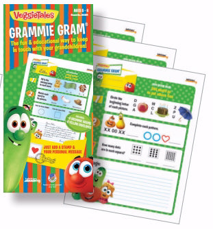 Veggie Tales Grammie Grams-5-6 Year Olds (6 Grams & 6 Envelopes)