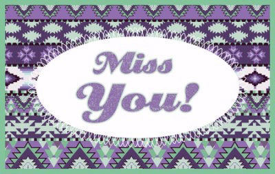 Postcard-Miss You! (Pack Of 25)