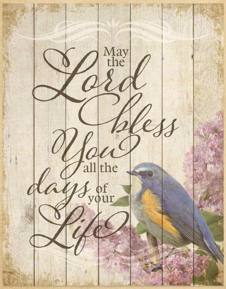 "Wall Plaque-Timberland Art-May The Lord (11.75"" x 15"")"