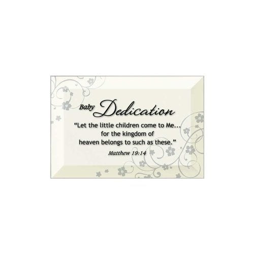Glass Plaque-Baby Dedication (6 x 4)