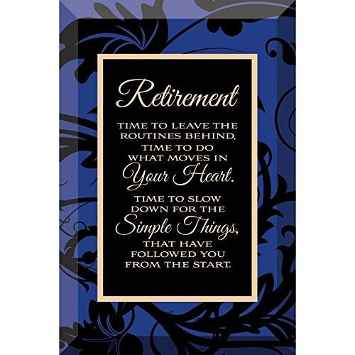 Glass Plaque-Retirement (6 x 4)