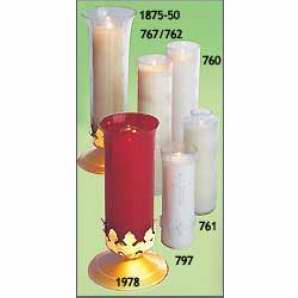 Candle-Santuary Lights-Clear Plastic-7 Day (Pack Of 24)
