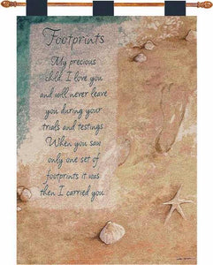 "Wall Hanging-Footprints-Tapestry (26"" x 36"")"