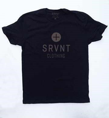 Tee Shirt-Srvnt Plus Womens Boyfriend Tee-Large-Black W-Grey