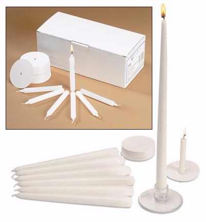 "Candle-Congregation-w-Drip Protection-1-2"" X 4-1-4""-Pack Of 120"