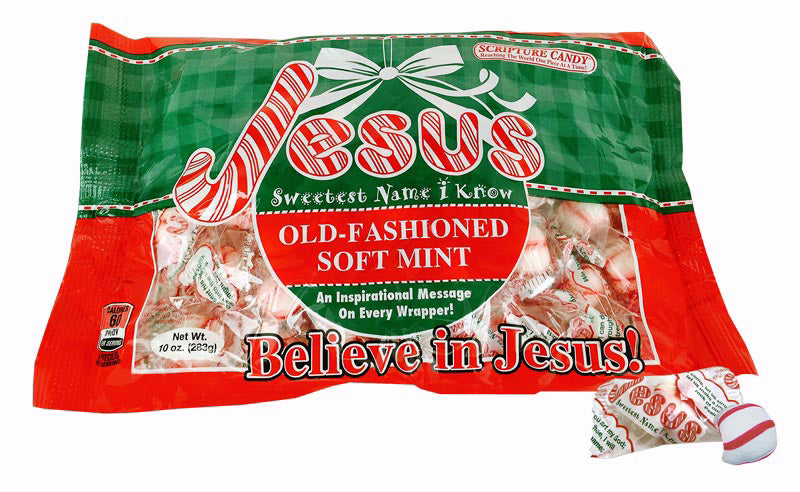 Candy-Jesus Sweetest Name... Soft Peppermint (10 Oz Bag)