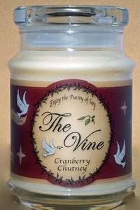 Candle-Jar-Cranberry Chutney (Soy)-1 Thess 5:16-18 (12 Oz)