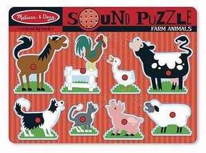 Puzzle-Farm Animals Sound Puzzle (8 Pieces) (Ages 2+)