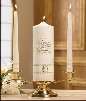 Candle-Wedding-Unity Set-Two Shall Become One-Gold