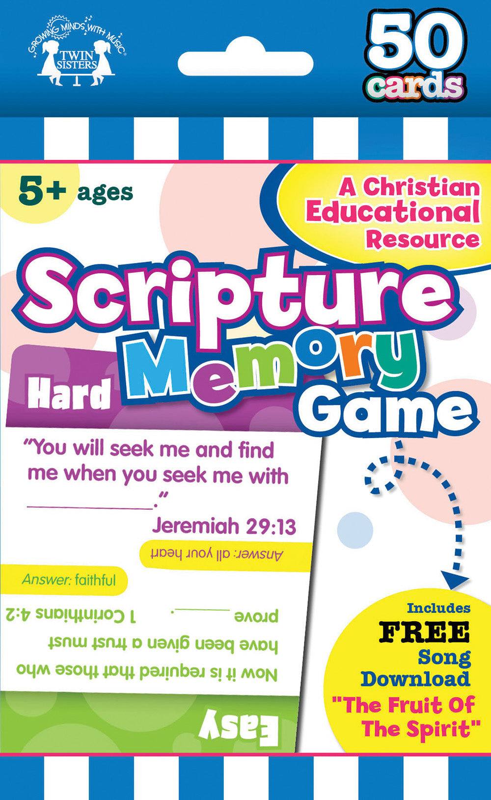 Flash Card-Scripture Memory-50 Count (I'm Learning The Bible Flash Cards)