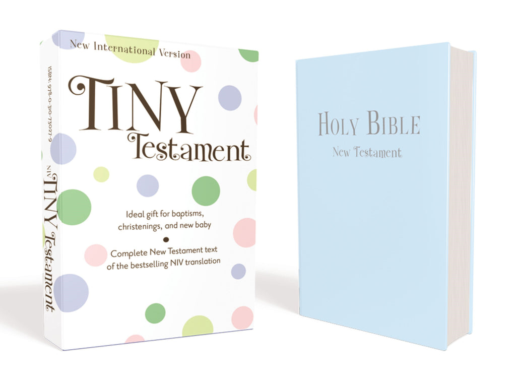 NIV Tiny New Testament-Blue Leather-Look