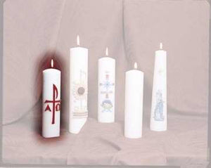 "Candle-Light Of The World Christ Candle 11"" x 3"" (#444)"