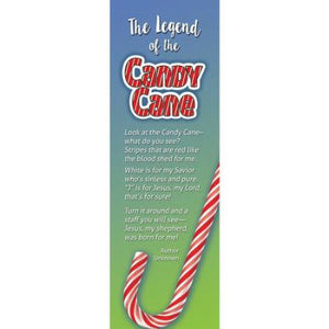 Bookmark-The Legend Of The Candy Cane (Luke 2:11  NIV) (Pack Of 25)