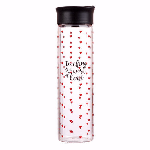 Water Bottle-Teaching Is A Work Of The Heart (20 Oz)