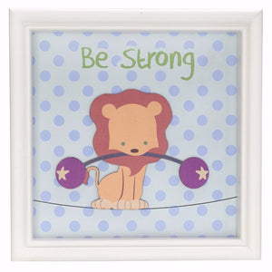 Wall Plaque-Be Strong (9.5 x 9.5)