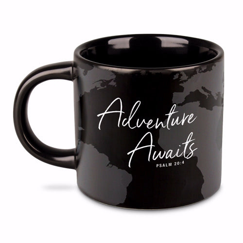Ceramic Mug-Adventure Awaits-Black (#18133)