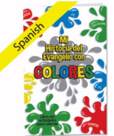 Spanish-My Gospel Colors Activity Book (Acts 16:31 RVR60)