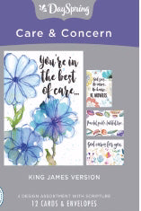 Card-Boxed-Care & Concern-Scripture (Box Of 12)