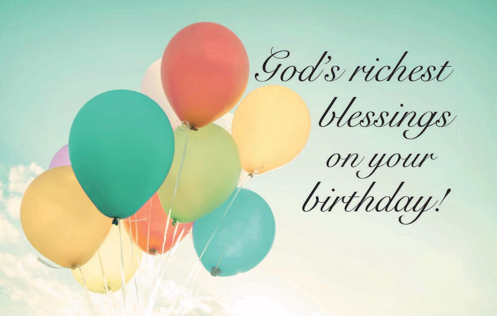 Postcard-Birthday-God's Richest Blessing (Pack Of 25)