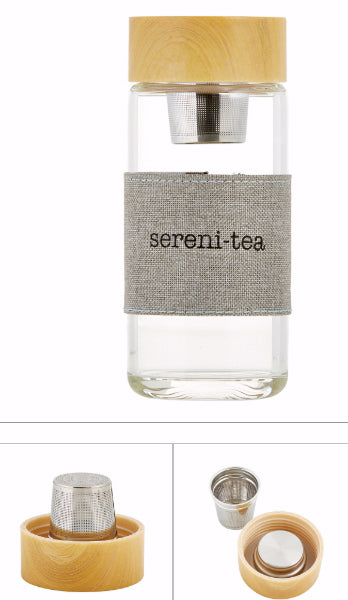 "Bottle-Tea Infuser-Sereni-Tea (6"" High 12 Oz)"