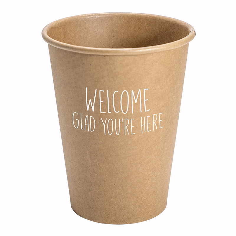 Paper Cups-Welcome (12 Oz) (Pack Of 10)